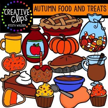 Autumn Food and Treats {Creative Clips Digital Clipart}