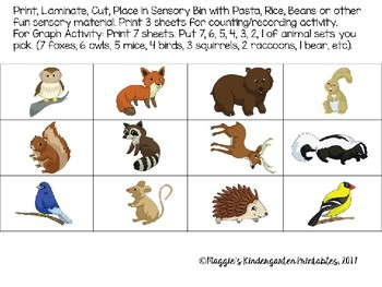 Autumn Forest Animals Sensory and Literacy Centers