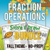 Autumn Fraction Operations Bundle