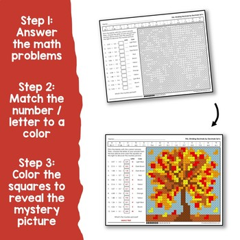 Fall Fractions and Decimals Bundle