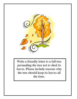Autumn Friendly Letter Writing Center