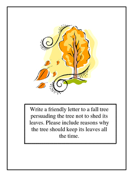 Autumn Friendly Letter Writing Center