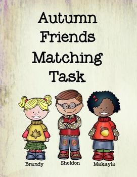 Autumn Friends Matching Tasks