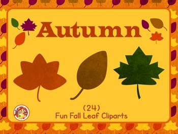 Autumn - Fun Fall Leaf Cliparts!