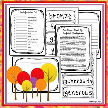 Autumn Fun Games Activities to Build Skills with 100+ Vocabulary Flash Cards