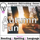 Autumn Fun Games Activities to Build Skills with 100+ Voca