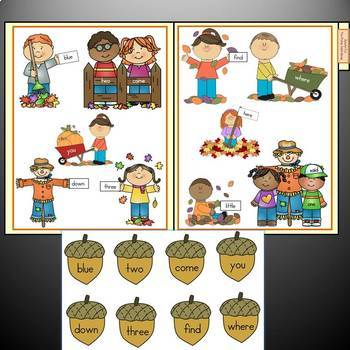 Autumn Sight Word File Folder Games: Autumn Fun