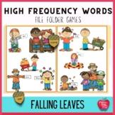 Autumn Sight Word File Folder Games: Autumn Fun