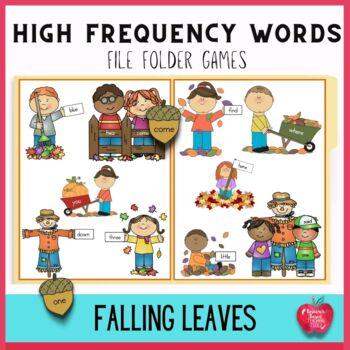 Autumn Fun High Frequency File Folder Games Kit