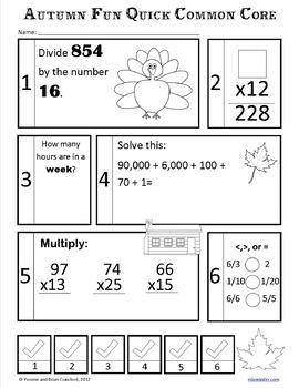 Fall No Prep Common Core Math (5th grade)