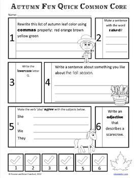Fall No Prep Common Core Literacy (2nd grade)