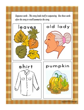 """Autumn Fun with """"There Was an Old Lady who Swallowed Some Leaves."""""""