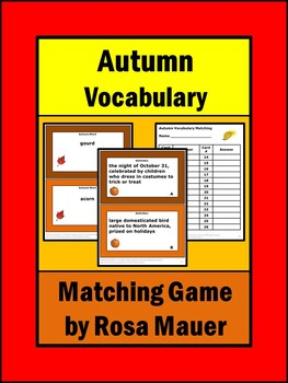 Fall Vocabulary Matching Game
