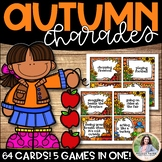 Autumn & Fall Games {5 Games in 1! 64 Picture Cards & Phra