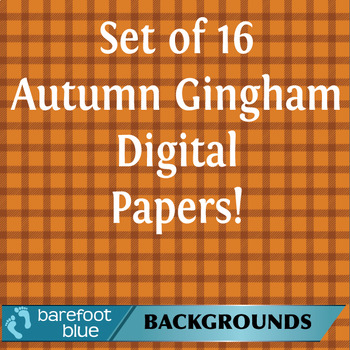 Autumn Gingham for Backgrounds and Digital Paper