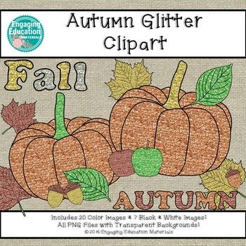 Autumn Glitter Clipart
