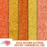 Autumn Glitter Papers