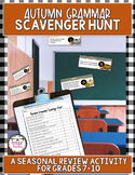 Autumn Grammar Scavenger Hunt Fall Seasonal Review Activity