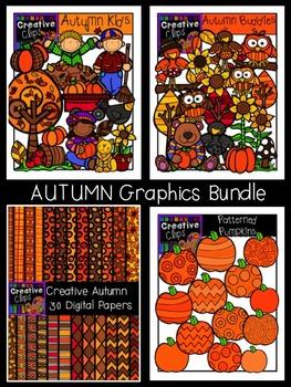 Autumn Graphics Bundle {Creative Clips Digital Clipart}