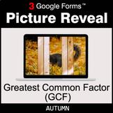 Autumn: Greatest Common Factor (GCF) - Google Forms Math |