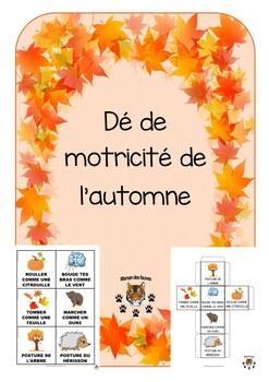 Autumn Gross motor dice - dé de motricité de l'automne