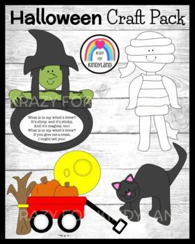 Autumn / Halloween Craft Pack: Cat, Witch's Brew, Mummy, Pumpkin Wagon