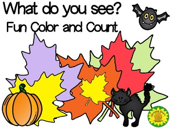 Autumn-Halloween Fun Count and Color Pages