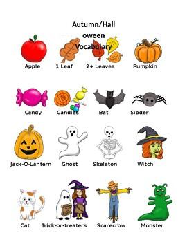 Autumn Halloween Pictionary