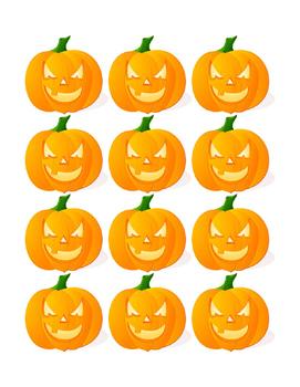 Autumn Halloween Pumpkin October Month 31 Days Counting Calendar Match Game 4pgs