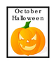 Autumn Halloween Pumpkin October Month 31 Days Counting Ca