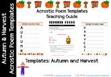 Autumn & Harvest Acrostic Poem Template
