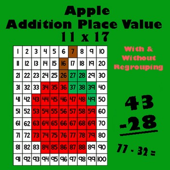 Autumn Harvest Apple Addition Math Mystery Picture - 11x17 - Back To School