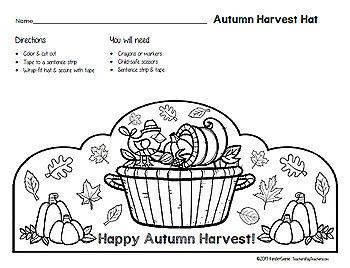 Autumn Harvest Hat 2 - Thanksgiving Alternative