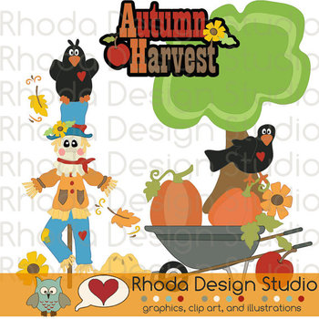 Scarecrow and Crows Clipart