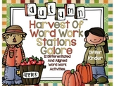 Autumn Harvest Word Work Galore-12 Differentiated and Alig