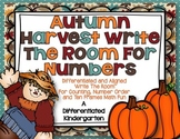 Autumn Harvest Write The Room For Numbers-Differentiated and Aligned