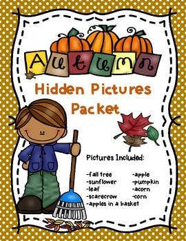 Autumn Hundreds Chart Hidden Picture Packet