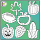 Autumn Icon Game Boards Clip Art