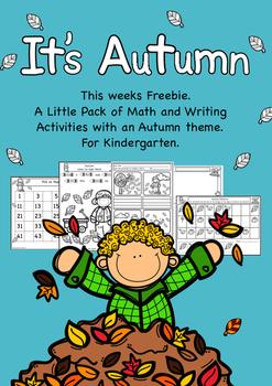 Autumn Ideas Freebie Writing and Maths