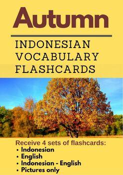 Autumn Indonesian Vocabulary Flashcards | Musim Gugur | Bahasa Indonesia