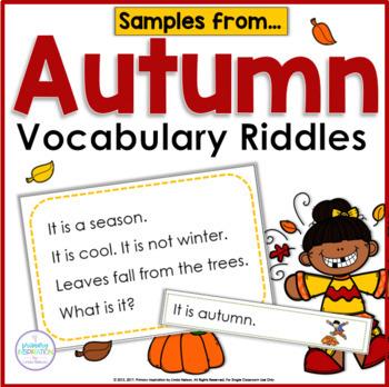 Autumn Vocabulary Riddles