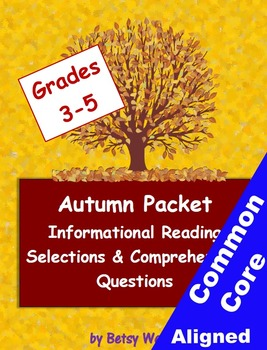 Autumn Informational Reading Selections and Questions for Grades 3-5