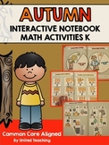 Autumn Interactive Notebook Math Activities for Kindergarten