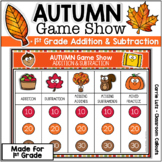Autumn Jeopardy Digital Game Show First Grade Addition & S