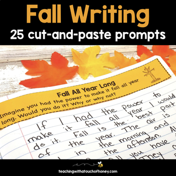 Writing Prompts For Falll: 25 Cut-And-Paste Writing Prompts