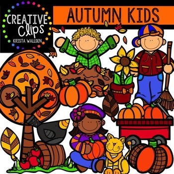 Autumn KIDS {Creative Clips Digital Clipart}