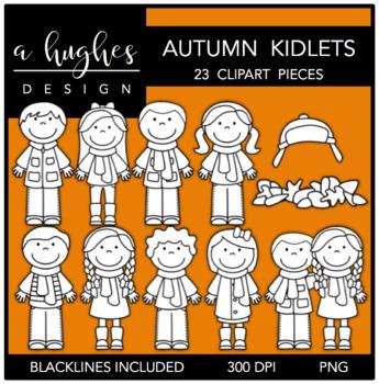 Autumn Kidlets Clipart {A Hughes Design}