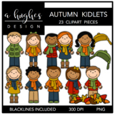 Autumn Kidlets Clipart {A Hughes Design}