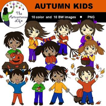 Autumn Kids Clip Art