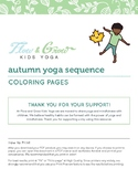 Autumn Kids Yoga Coloring Pages
